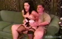 Sexy midget Bridget fucked on couch