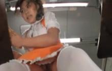 Weird faces on this Asian vendor girl...