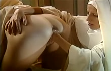 Horny nuns fucking and doing fisting