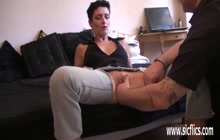 Hubby fisting wife's wet pussy