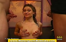 Bizarre golden showers for a dirty slut