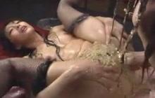 Filthy Japanese girls vomiting