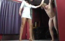 Bizarre ball busting domination