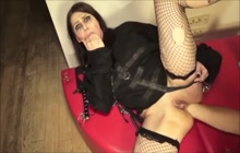 Submissive milf enjoyed golden shower and anal fist fucking