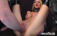 Hard fisting and toying with hot babe