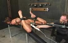 Hard BDSM machine fucking