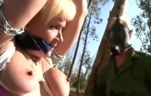 Sexy blonde MILF Heidi Mayne bondaged and fucked