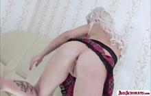 Gorgeous lesbian babe KsuColt knows how to fuck her ass until it gape