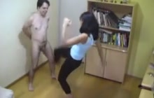 He has ballbusting compilation